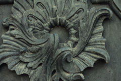 Element of vintage metal doors Royalty Free Stock Images