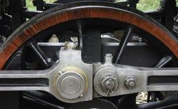 Element von einem Rad einer Dampflokomotive stockbild