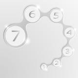 Element von infographics Runde kleine Inseln für Text 8 ENV Lizenzfreie Stockfotografie