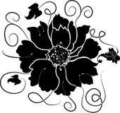 Element voor ontwerp, bloem, vector Stock Afbeelding