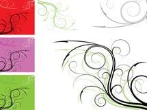 Element voor ontwerp, hoekbloem, vector Stock Foto