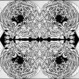 Element of water BW Seamless pattern Stock Photo