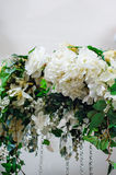 Element wedding arch white flowers Royalty Free Stock Images