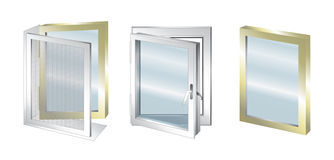 Element of window - glass Royalty Free Stock Image