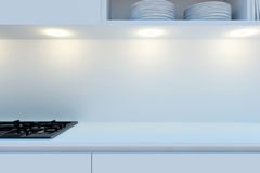 Element of the working area of modern kitchen. Royalty Free Stock Photography