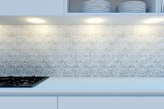 Element of the working area of modern kitchen. Stock Image