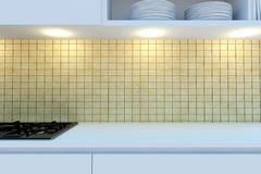 Element of the working area of modern kitchen. Royalty Free Stock Photos