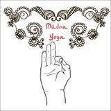 Element yoga mudra hands Stock Images