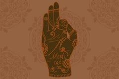 Element yoga mudra hands Stock Photo