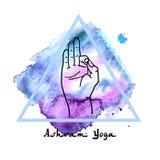 Element yoga mudra hands Stock Image