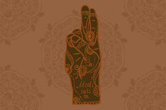 Element yoga mudra hands Royalty Free Stock Photography