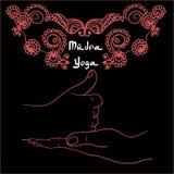 Element yoga shiva linga mudra hands Royalty Free Stock Photo
