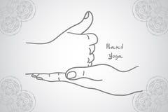 Element yoga shiva linga mudra hands Stock Photo