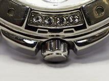 Element zegarek z cennymi kamieniami obrazy stock