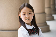 elementair schoolmeisje Stock Afbeelding