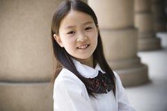 elementair schoolmeisje stock fotografie