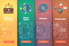 Elementaire en academische wetenschap geology Kosmische ruimte vector illustratie