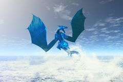 Elemental Water Dragon Stock Photo