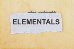 Elementals Stock Image