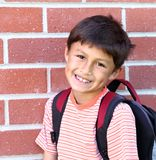 Elementary age schoolboy Stock Photos