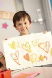 Elementary Age Schoolchild In Art Class Royalty Free Stock Photo