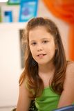 Elementary age schoolgirl smiling Royalty Free Stock Photography