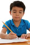 Elementary Boy. Elemantary aged boy set on a white background Stock Photos