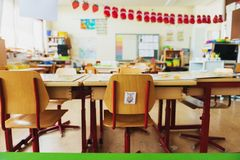 Elementary classroom. Back to school concept Royalty Free Stock Photo