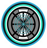 Elementary design for wheel Stock Images