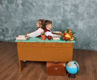 Elementary emotional school kids royalty free stock photography