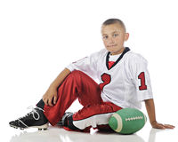 Elementary Football Player Stock Image
