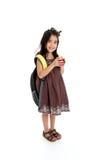 Elementary Girl. Elemantary aged girl set on a white background Royalty Free Stock Image