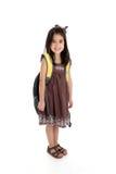 Elementary Girl. Elemantary aged girl set on a white background Stock Photo