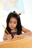 Elementary Girl In School Stock Photography