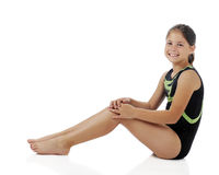 Elementary Gymnist Relaxed Royalty Free Stock Image