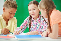 Elementary learners Royalty Free Stock Photo