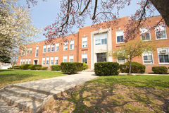 Elementary School. A typical Elementary school in the spring stock image