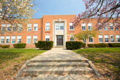 Elementary School. A typical Elementary school in the spring stock photography