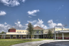 Elementary School. In Orlando, Florida with Blue Sky Royalty Free Stock Image