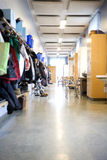 Elementary school. Corridor in a Elementary school royalty free stock photography