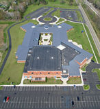 Elementary School Aerial Photo. Aerial photo of elementary school in Michigan. Includes entire bui stock photos