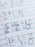 Elementary school arithmetic Royalty Free Stock Image