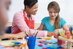 Elementary school art class Royalty Free Stock Photography