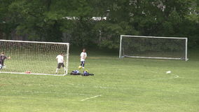 Elementary School Boys Playing Soccer (5 of 6). A view or scene of Sports stock footage