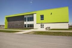 Elementary school building. Backside, sunny spring day Stock Photos