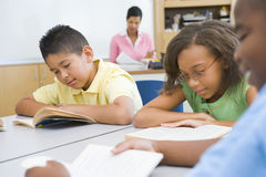 Elementary school classroom Stock Photos