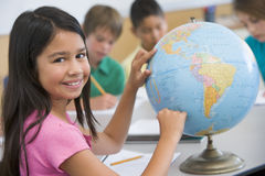 Elementary school geography class Royalty Free Stock Images