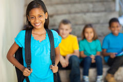 Elementary school girl royalty free stock photo