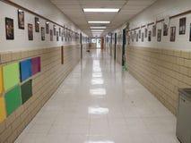Elementary School Hallway stock photography
