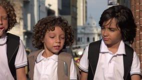 Elementary School Kids Talking. Stock video in 4k or HD resolution stock footage